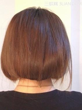 长发变短发发型的扎法步骤图解