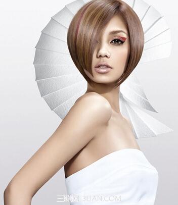 新款女生沙宣短发发型图片