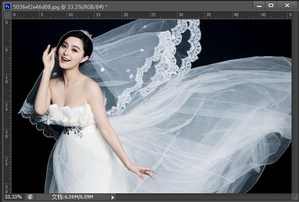 计算机/互联网 平面设计 photoshop > ps利用通道快速抠取婚纱照教程