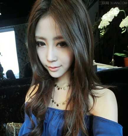 2015甜美韩式长发烫发发型