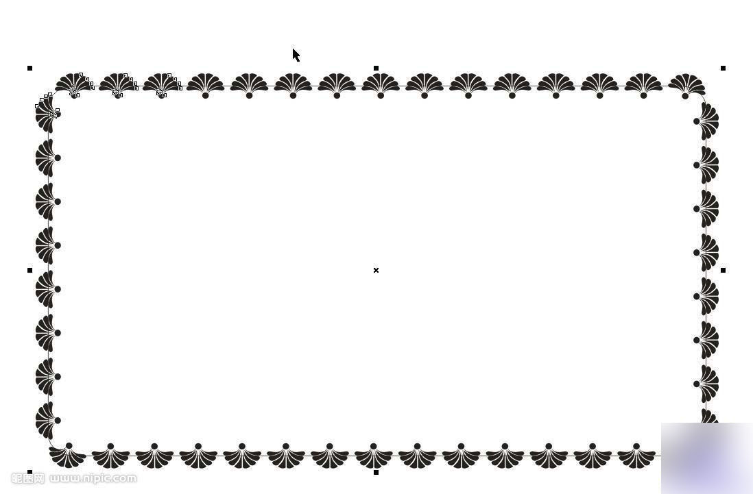 平面设计coreldraw>coreldraw简单介绍漂亮的边框学徒花纹绘制咸阳广告设计信息v边框技巧图片