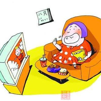 小孩吃零食 卡通