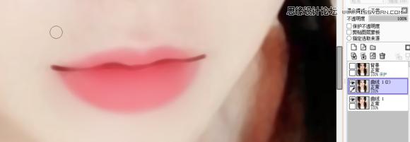 嫩嘴巴的转手绘绘制方法