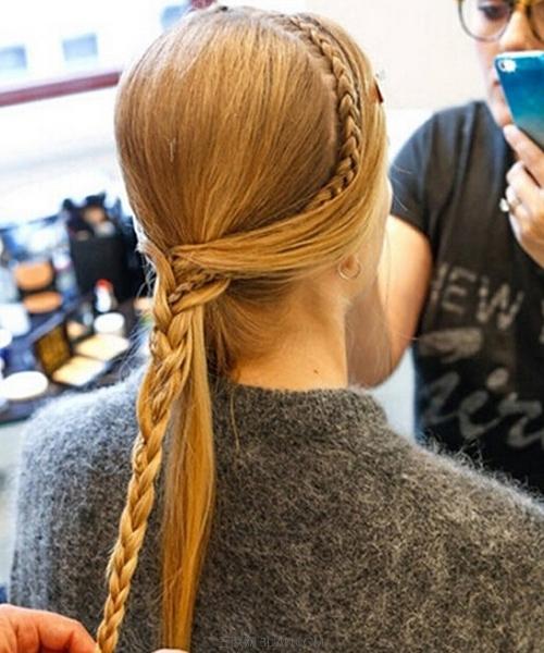 生活百科 美容时尚 发型 > 长发编发教程    步骤七: &nb