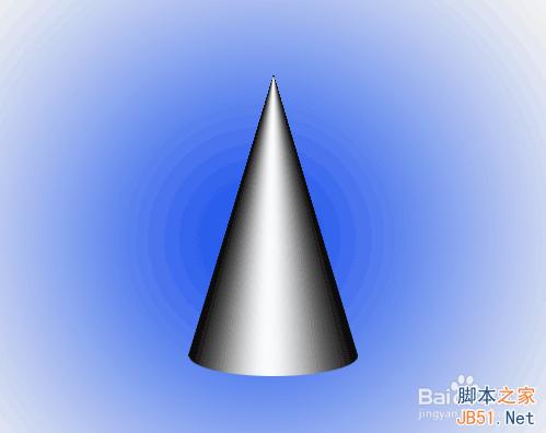 出任意物体形状,那么如何使用渐变工具画一个圆锥呢?