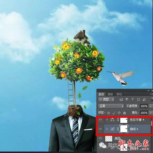 用PS合成另类抽象的鲜花头像图片效果