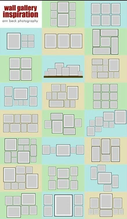 生活百科 家居装修 室内设计理论 > 实用的照片排版,照片墙布局参考