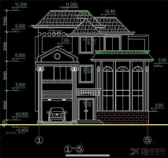 农村三层别墅装修设计效果图
