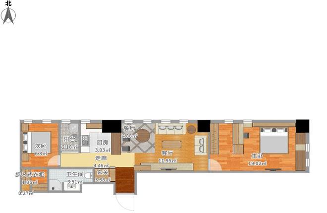 分类导航 生活百科 家居装修 室内设计理论 > 超狭长77㎡旧屋翻新