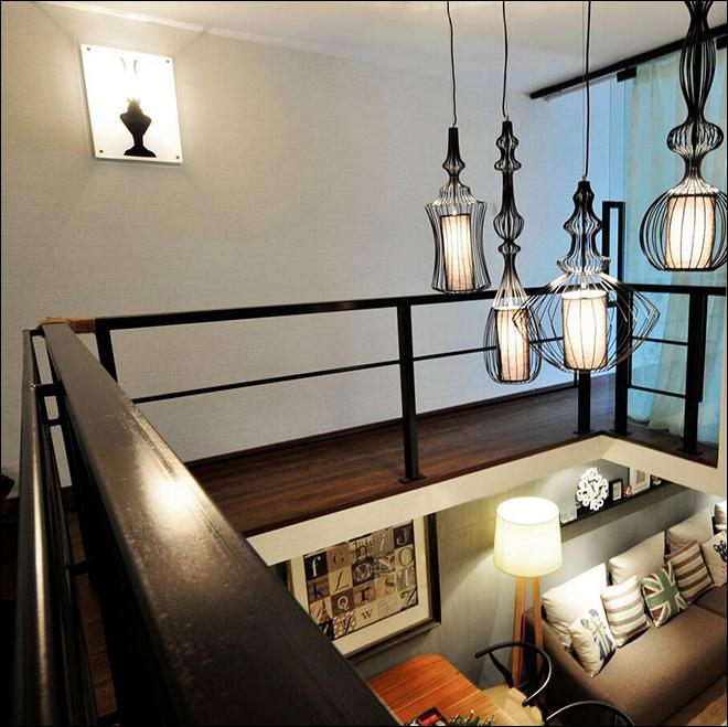 loft公寓,现代简约风装修效果图,loft装修效果图,单身loft公寓