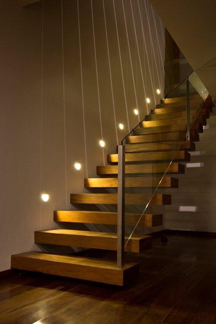 个性实木楼梯简约风格图片