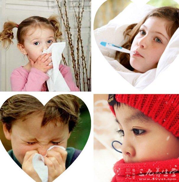 儿童感冒所致的发热,咳嗽