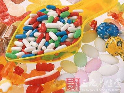 一堆糖果矢量图