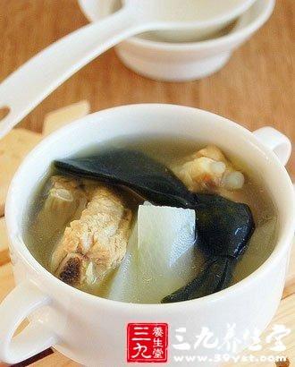 海带的做法大全      冬瓜海带排骨汤      材料:排骨2条,干